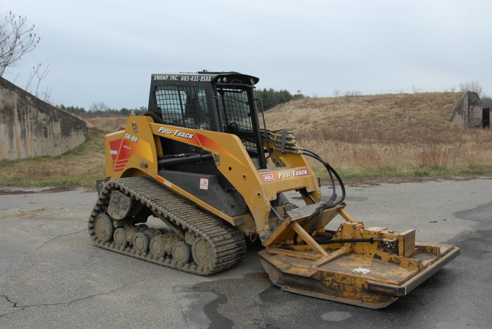Skid Steer with Mowing Deck