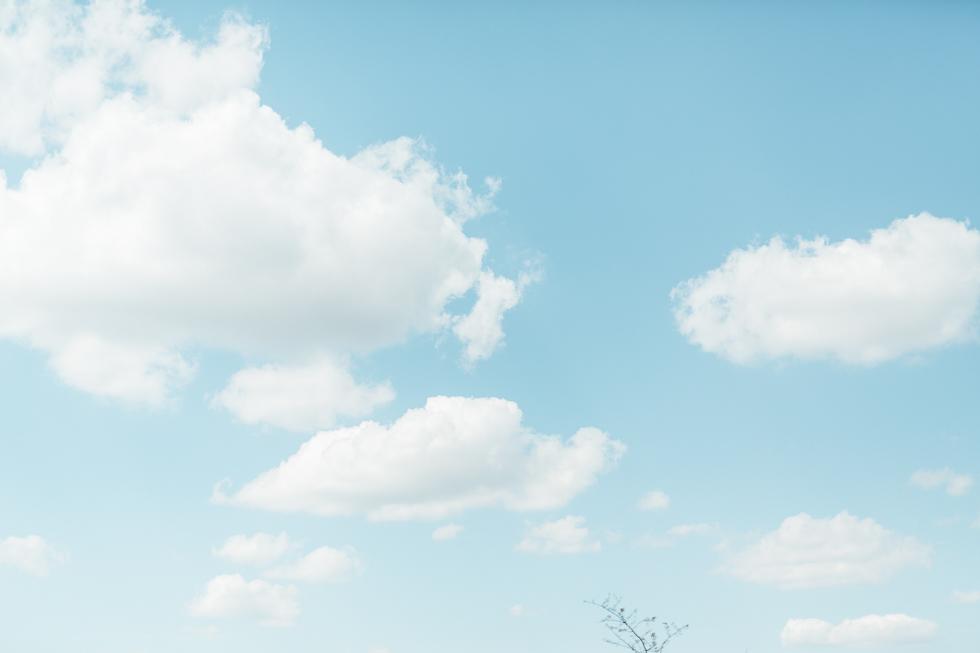 ...Wolken schauen.