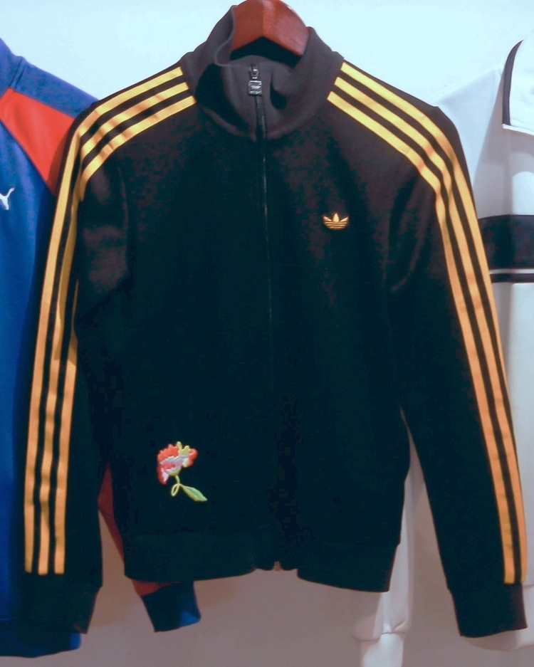 Vintage Adidas Track Jacket With Embroidered Flower Space 137