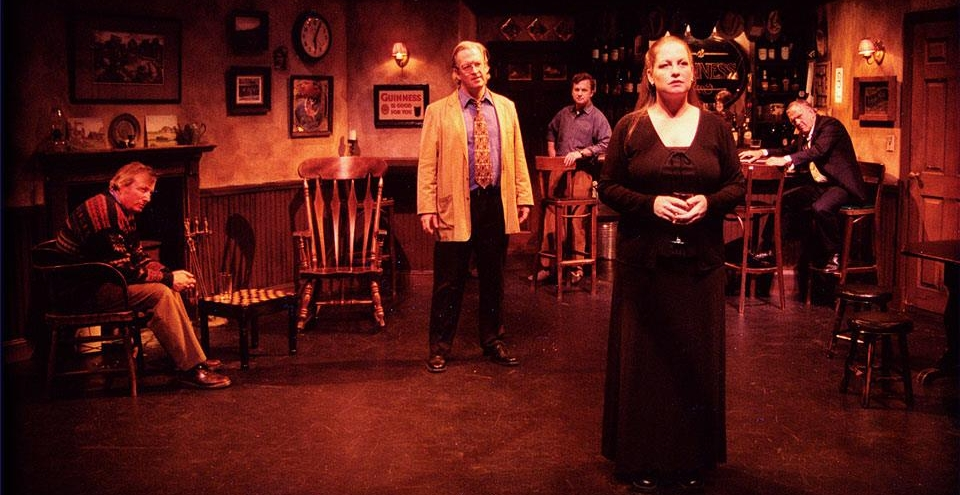 """Deborah Linehan as Valerie in the Mugford Street Players production of """"The Weir"""" by Conor McPherson. Directed by John Fogle. Photo credit: John Fogle."""