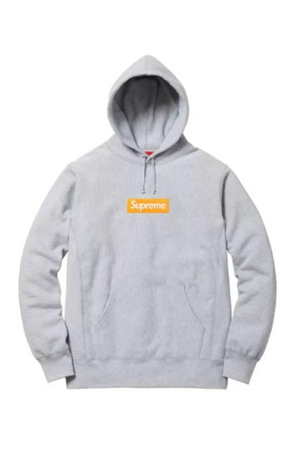 Supreme Box Logo Hoo Fw 2017 Grey