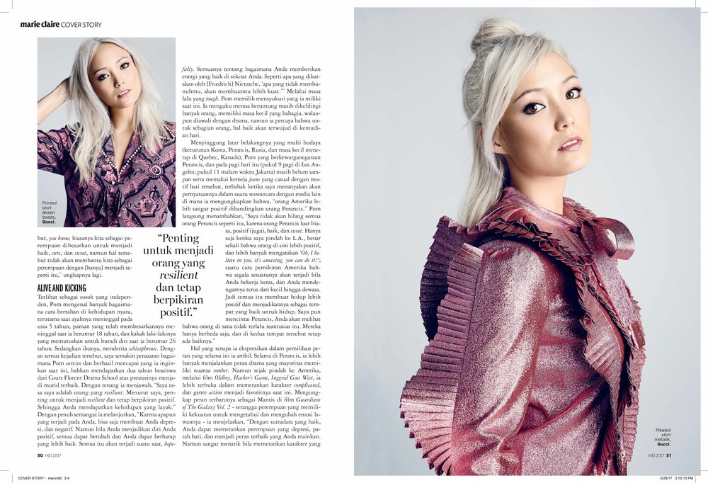 Marie Claire - Pom Klementieff