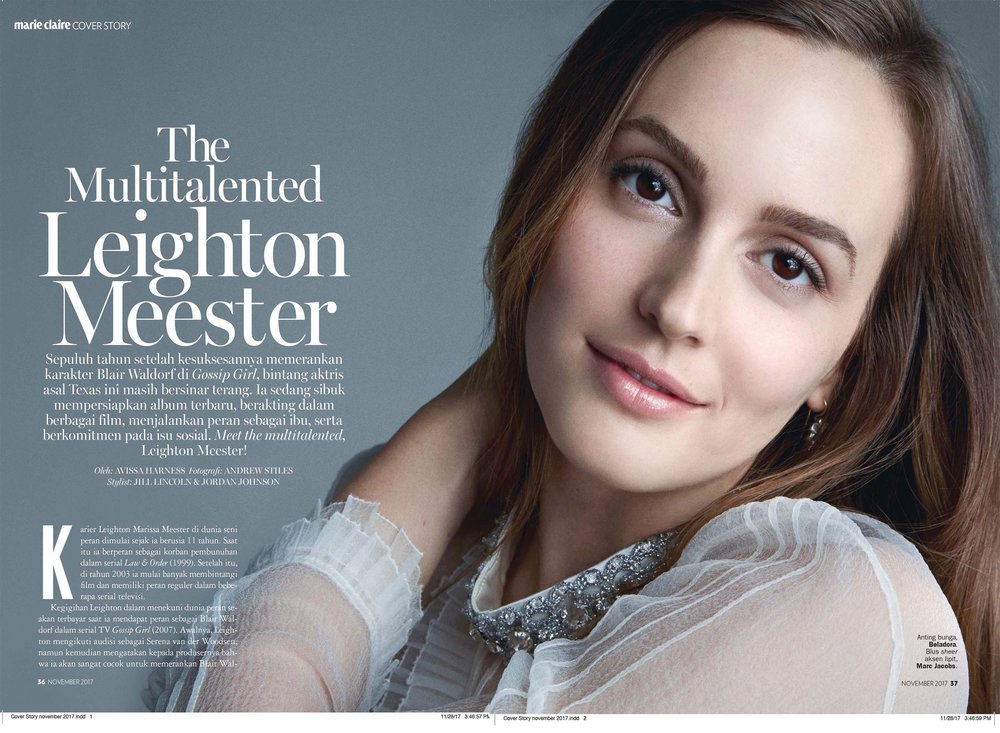 Leighton Meester - Marie Claire