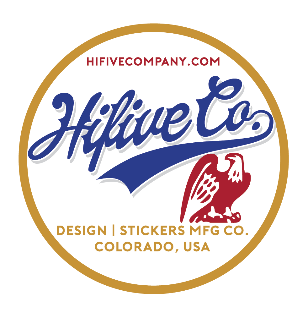 Sticker design hifive stickers design company