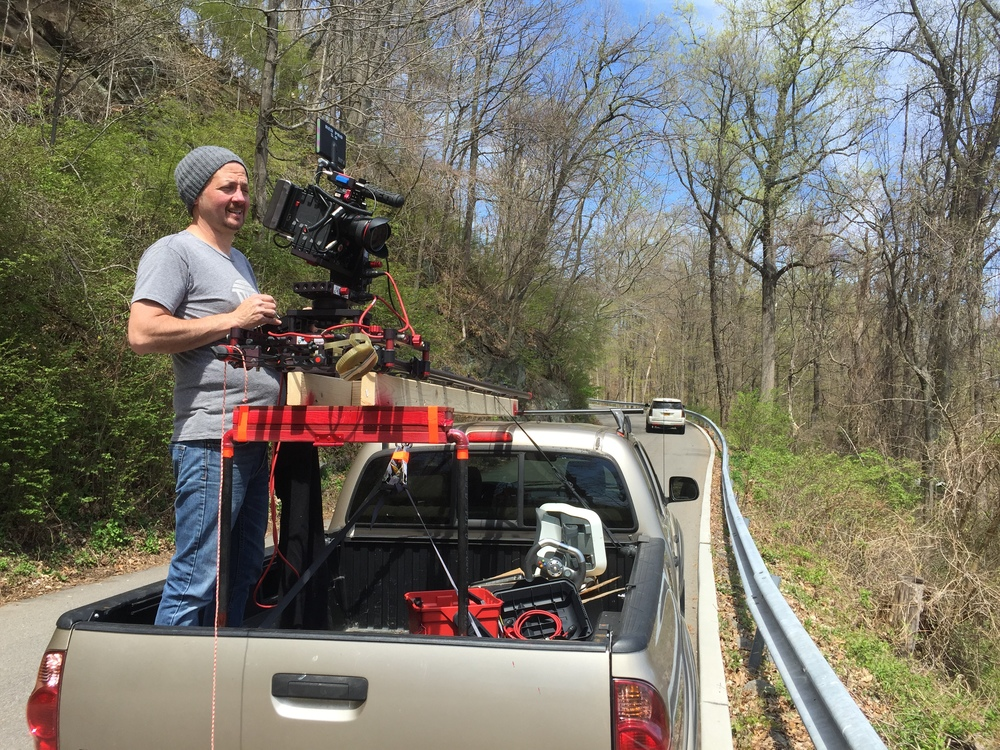 Darryl Curry with our RED camera and motion control rig from camBLOCK