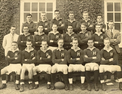 Harvard's 1950 rugby squad.