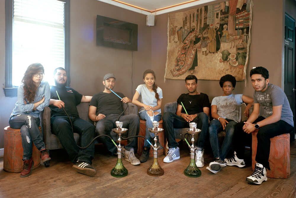 Gang at Shishababa's House of Hookah