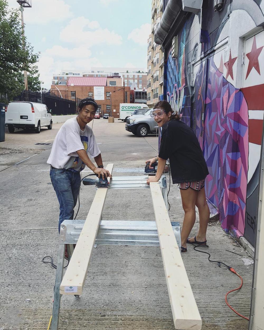 Meet project assistants Kohei Urakami ( @moral_punishment ) and Kenzi Waddell ( @kamikenzi_ ). #permacounterculture  #punk  #acreativedc