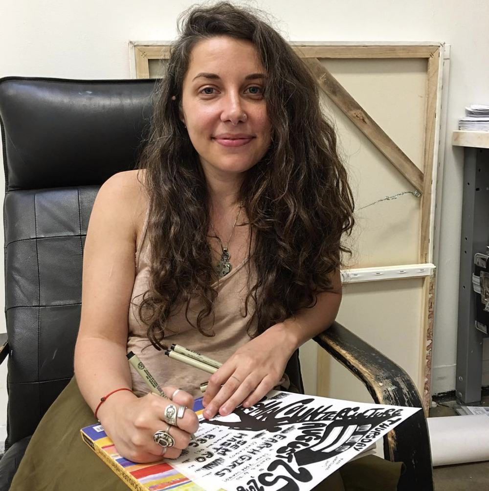"""Meet Sarah O'Donoghue, PG county native! She is currently a MFA student at American University studying painting. Her work will be in the Foundry gallery group show opening this Saturday. Sarah did all flier art for """"Permacounterculture."""" Learn more at http://www.sarahodonoghue.com"""