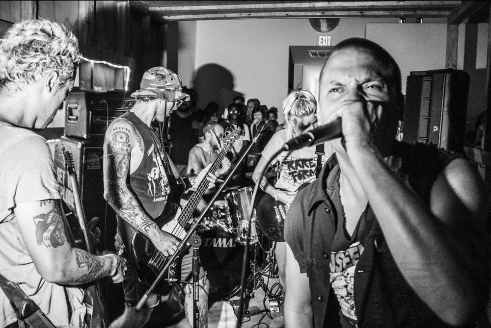 Unknown Threat at the August 13th show. Interested in purchasing a T-shirt, poster, or button send us a DM or email rebekah@hamiltonianartists.org. The proceeds support the local bands and Bread for the City ( @breadforthecity ). Photo courtesy of Farrah Skeiky ( @reallyfarrah )