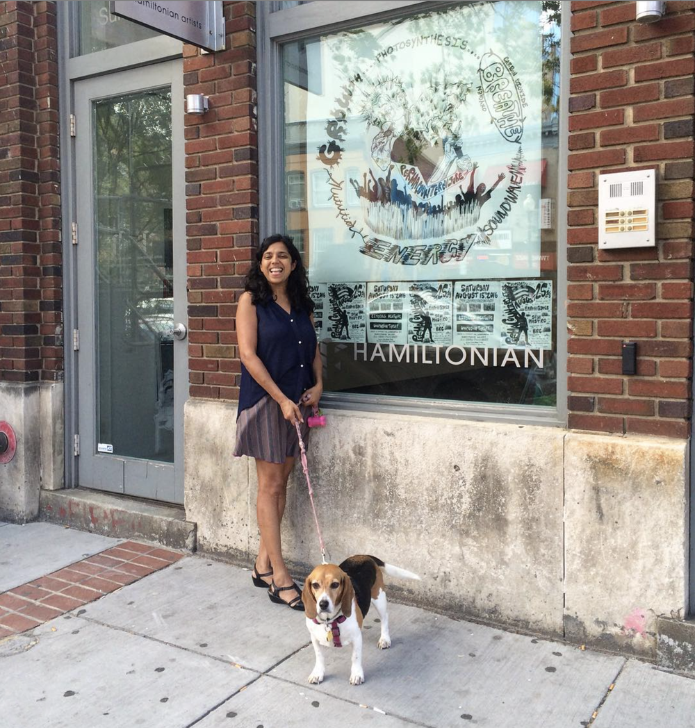 Meet Monica Jahan Bose and Bella! Monica is pretty hardcore in our book- donating to the project (learn how you can support this project here http://til.tt/BPVW). She is an artist, women right lawyer, environment activist and mother of two daughters!!!!! Bella is adopted about a year ago! Bella successfully lost 10 pound since she was adopted! Learn more about Monica here www.monicajahanbose.com