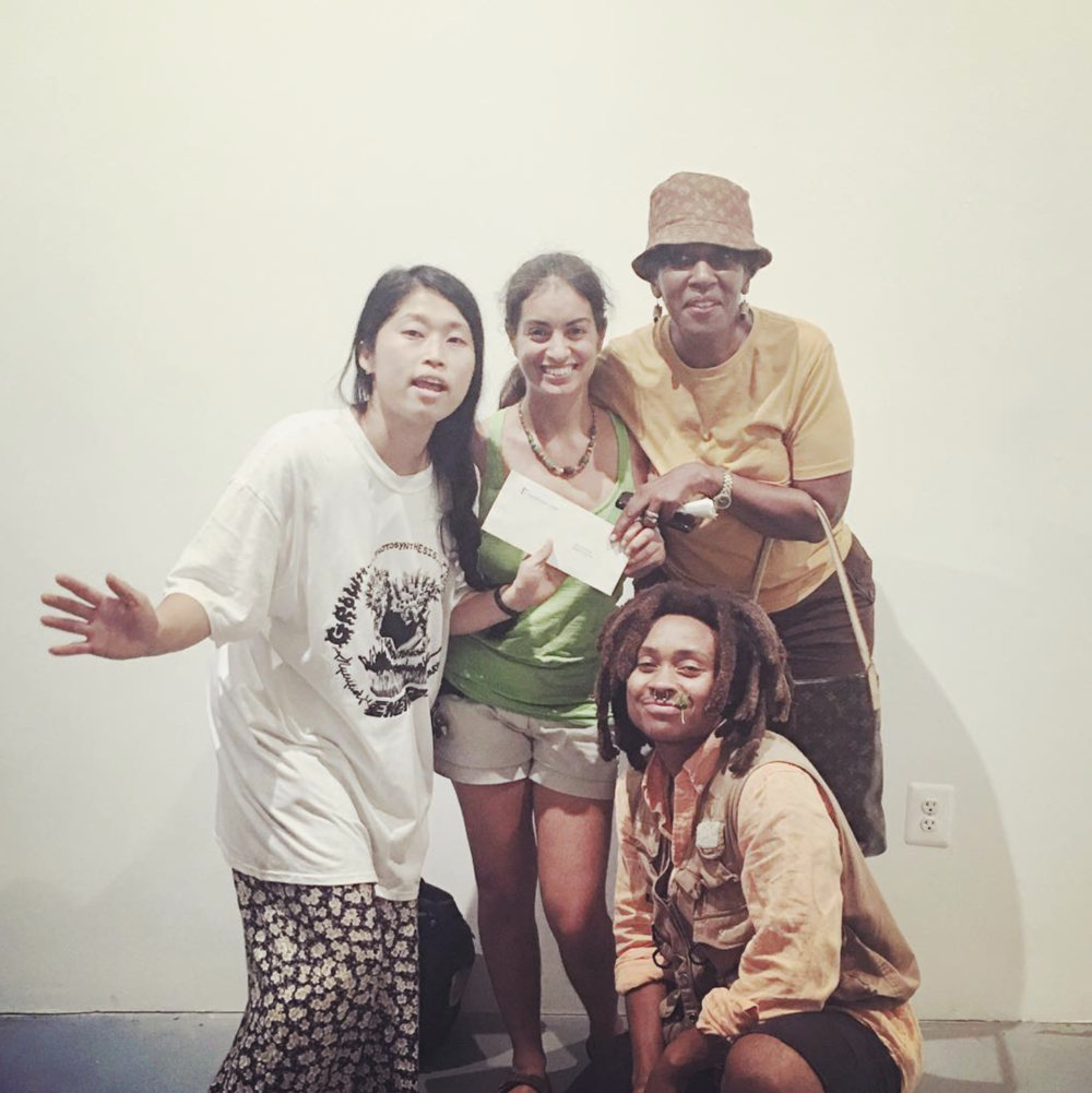 hamiltoniangallerydc     #tbt to last week at our final #permacounterculture show! Beyond thrilled to present a check for $800 to Bread for the City's City Orchard Project and $1000 to local punk musicians, which grows, harvests, and distributes fresh produce to DC residents and food pantries. Volunteer at City Orchard or at other @breadforthecity initiatives by visiting their website!