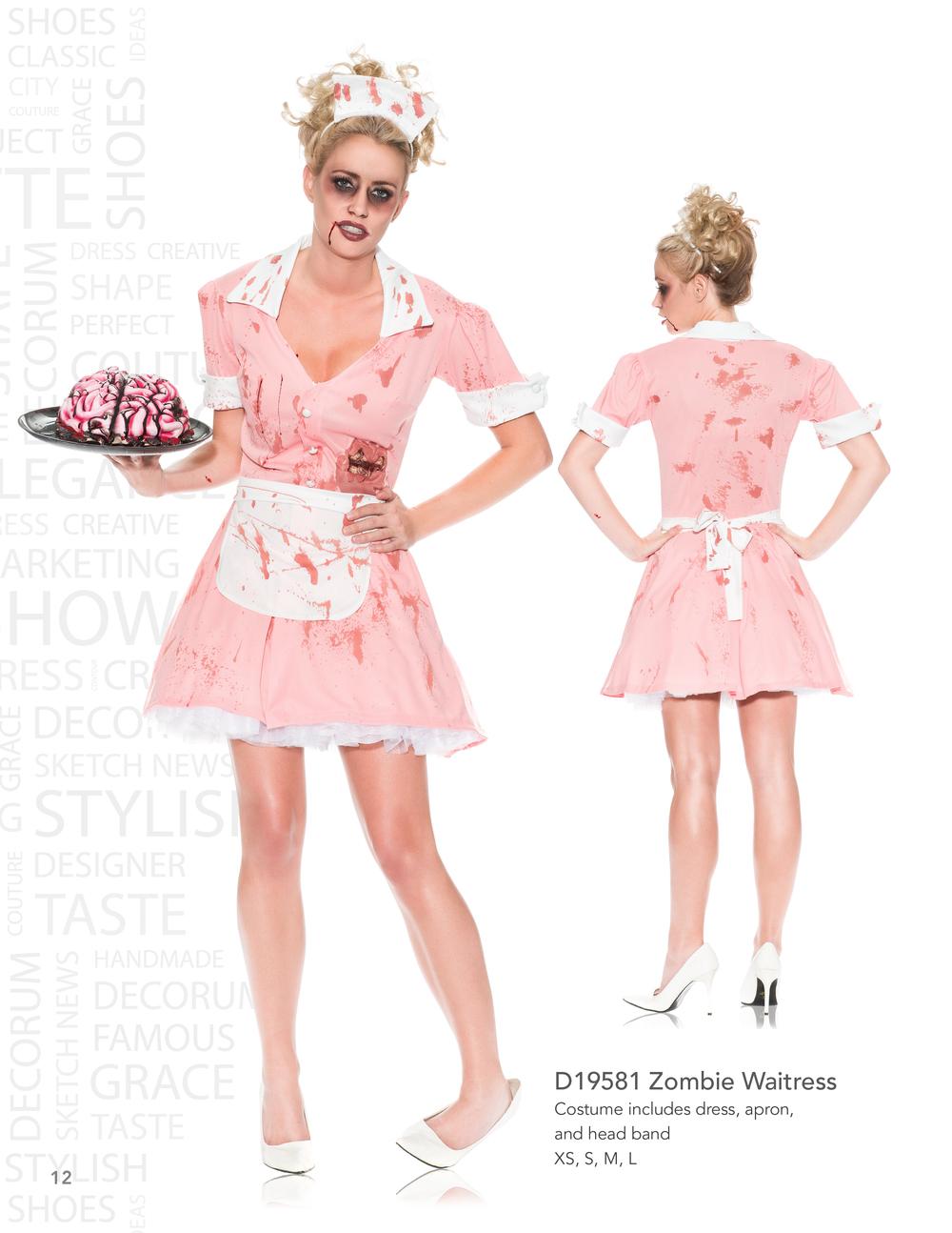 D19581 Zombie Waitress