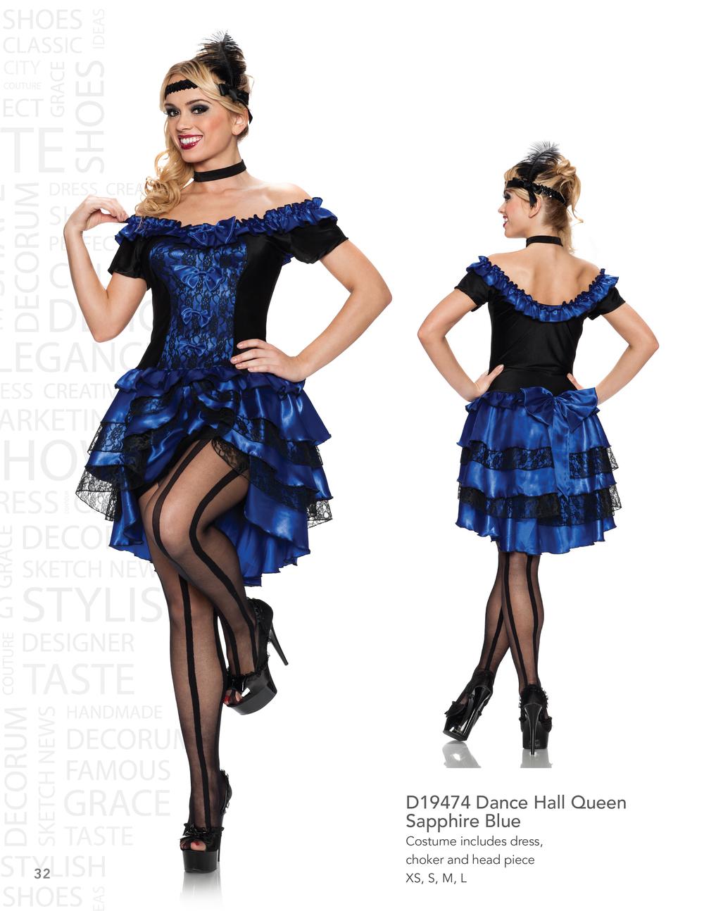 D19474 Dance Hall Queen - Sapphire Blue