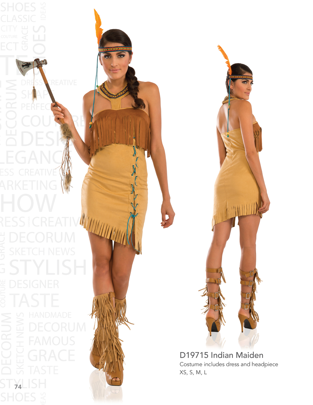 D19715 Indian Maiden
