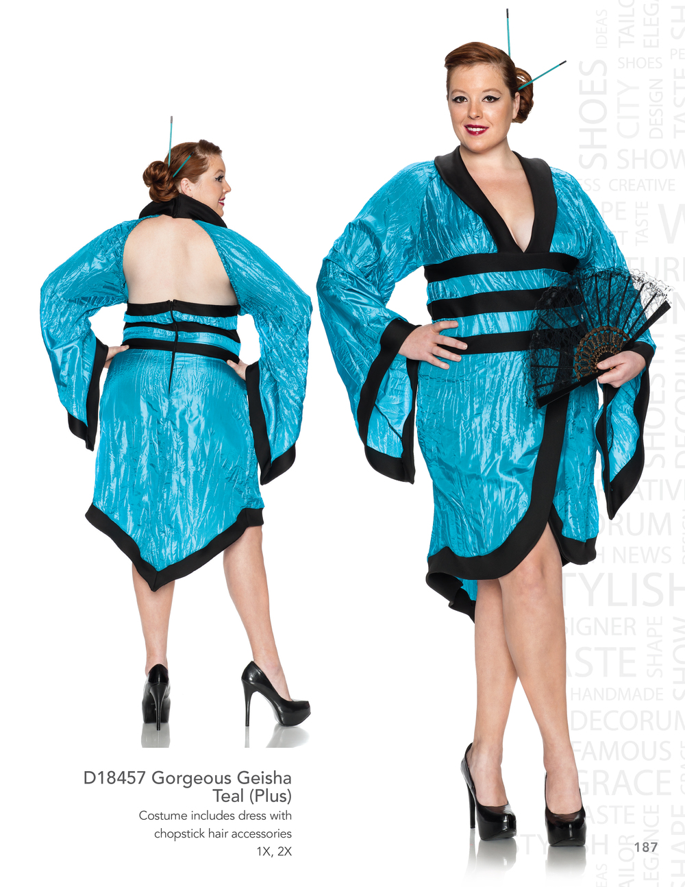 D18457 Gorgeous Geisha - Teal