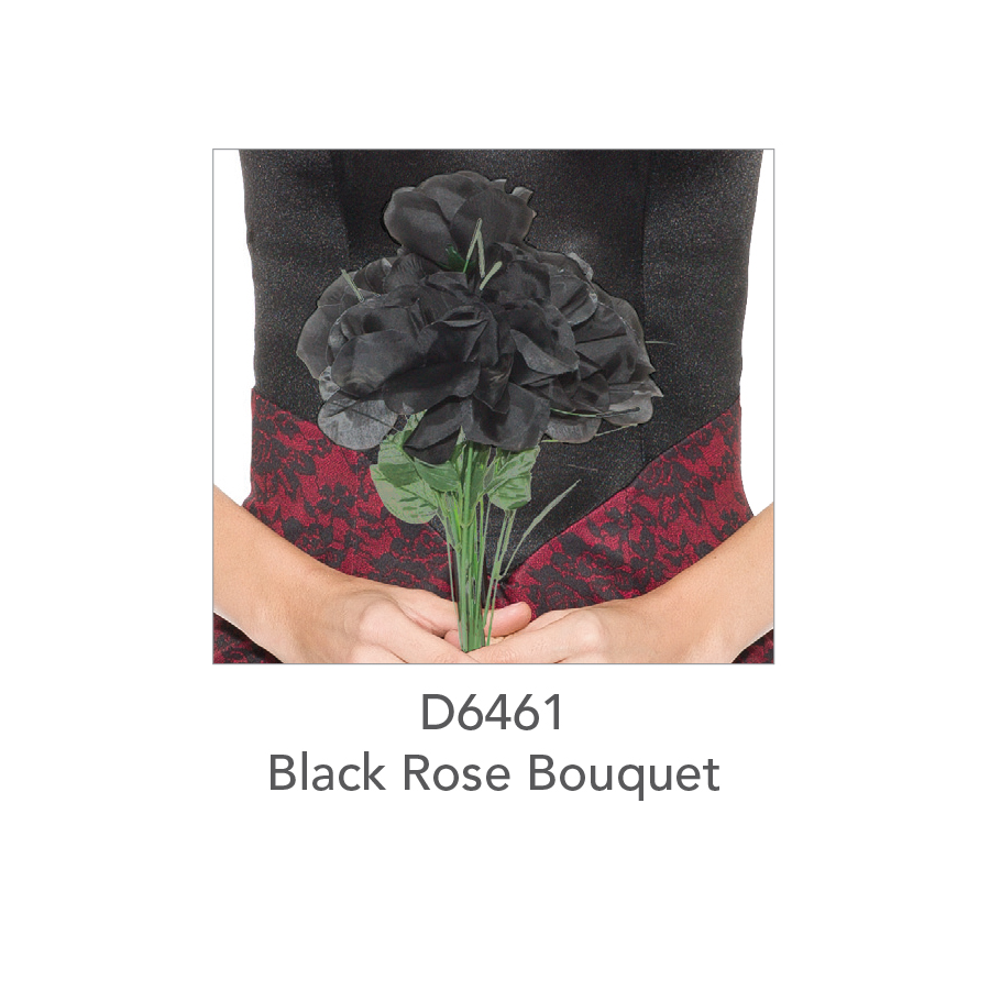 D6461 Black Rose Bouquet