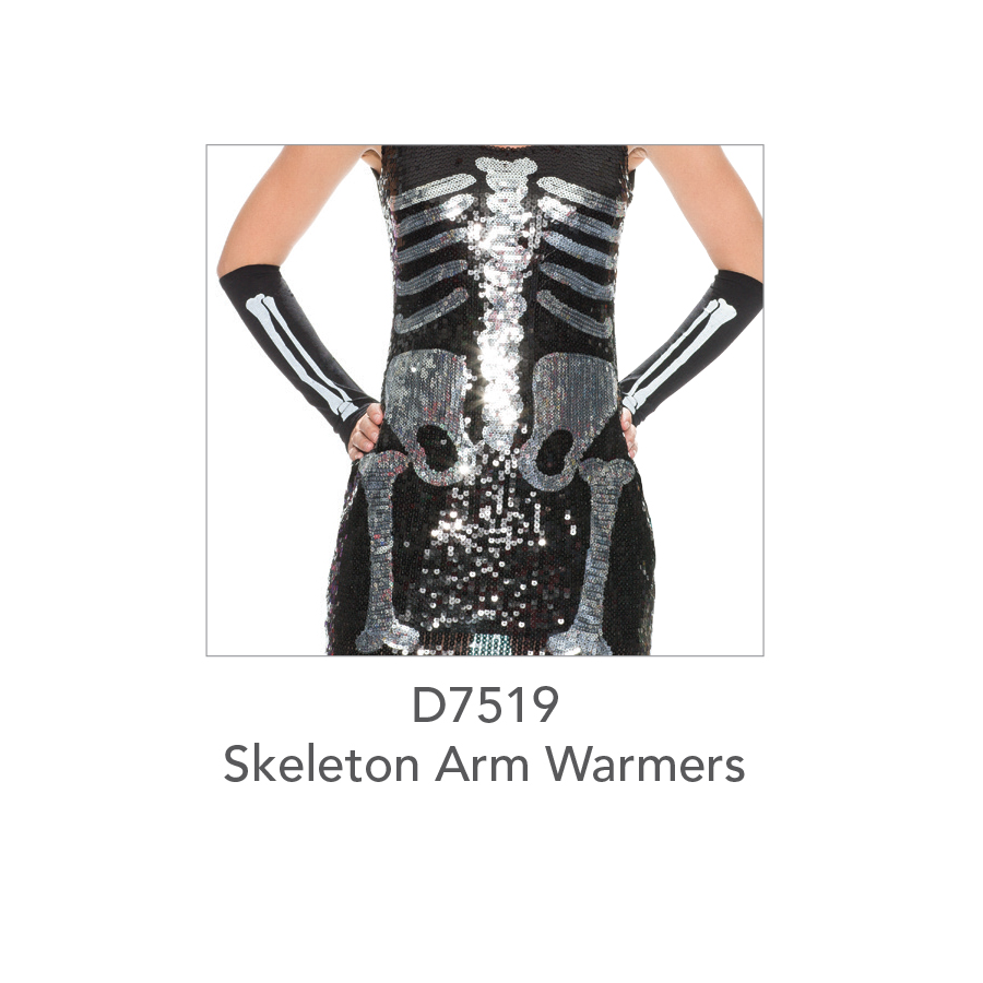 D7519 Skeleton Arm Warmers