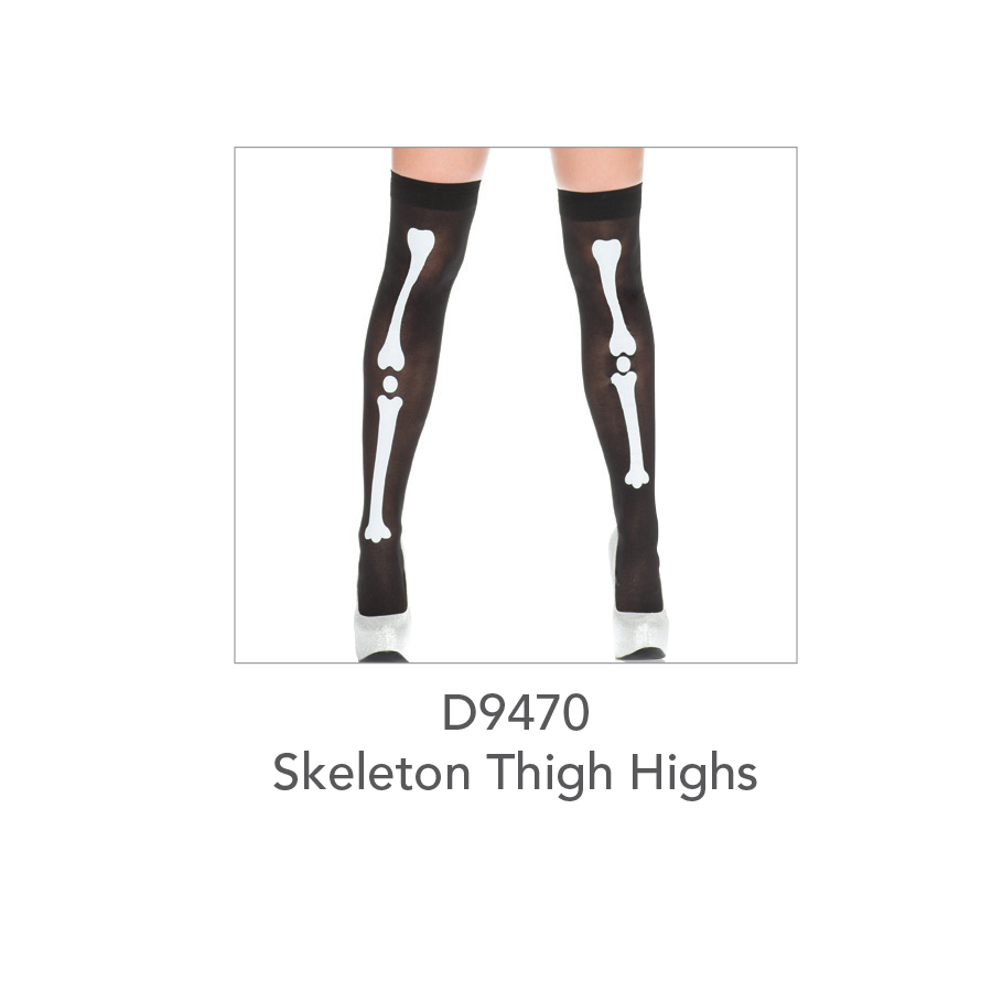 D9470 Skeleton Thigh Highs