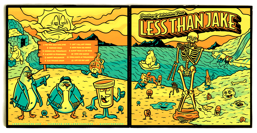 Record Packaging, Illustration for Less Than Jake