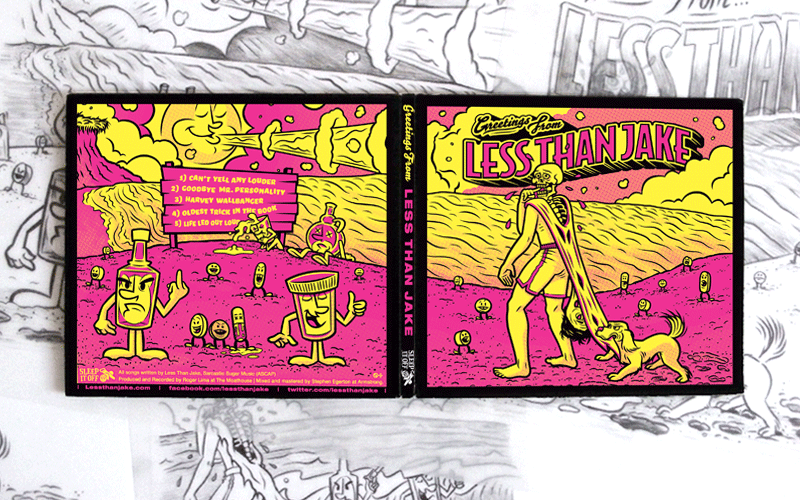 CD Packaging, Illustration for Less Than Jake