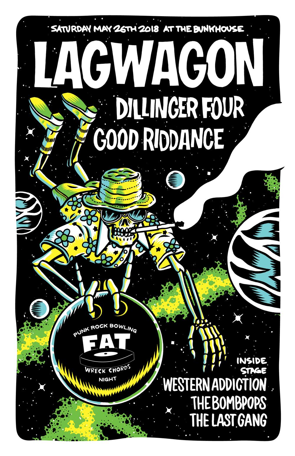 Fat Wreck Night at Punk Rock Bowling 2018, Poster Art