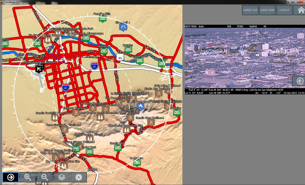 Change the layout to enlarge moving map, live or recorded video