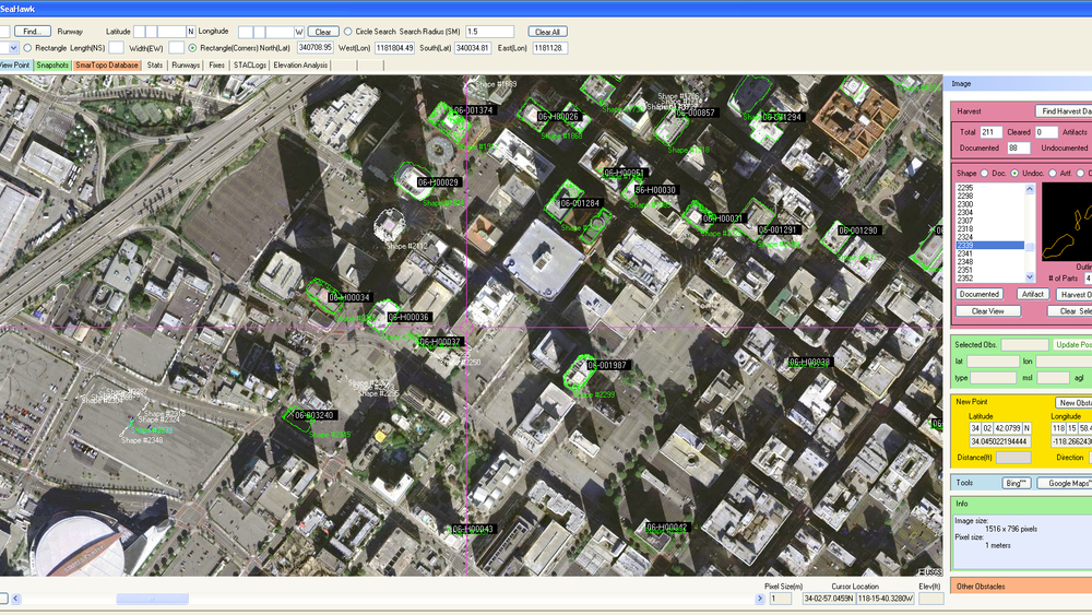 Harvest uses LIDAR to extract obstacles for review