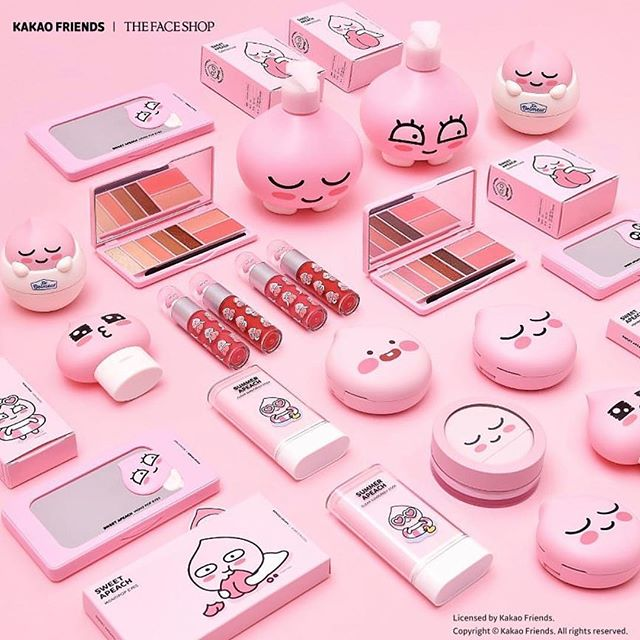하.... 심쿵.. 다 사야하나? Temptation... 💕 . @thefaceshop.official . . .. . #kbeauty #더페이스샵 #makeup #makeupartist #makeup #makeuplover #makeupaddict #makeupkorea #beauty #koreanbeauty #apeach #kakaofriends #카카오프렌즈 #어피치 #내맘속에저장 💕🌸 #사고야말꺼라는