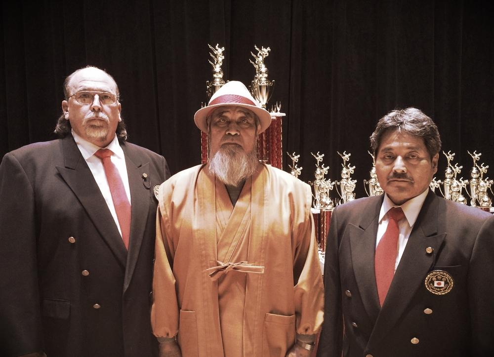 Left to Right: U.S Director Master Mike Culbreth, Grandmaster Katsuo Yamamoto, andU.S. Director Hiroaki Toyama