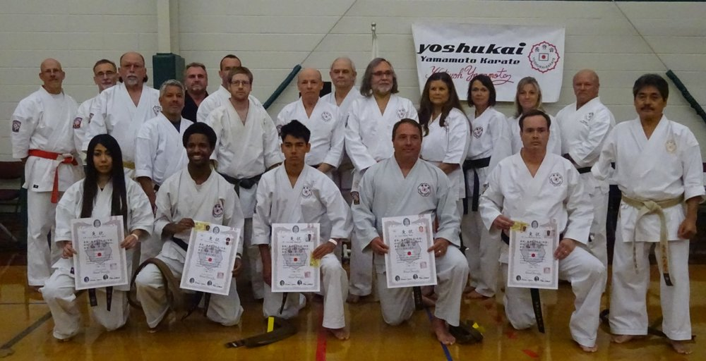 This year's tournament started with the award of black belt promotions from 2017 Winter Camp. We had 4 promotions to Shodan and one of those rare promotions to 6th degree (Ms  Sayaka Katoh on left) !  Congratulations to all!