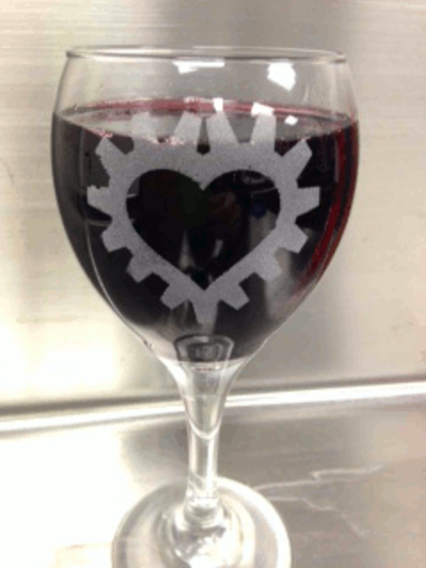 TechShop Chandler's Etched Glass Date Night lets you etch your own design (or initials) into a wine glass. Once you're done using the machinery, it's time to pour some wine into that beauty and enjoy.