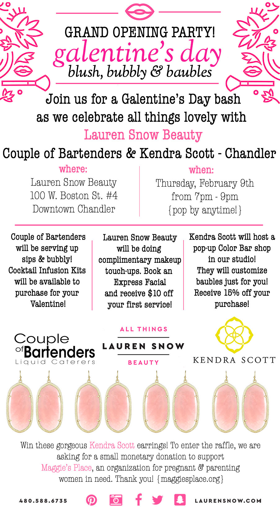 Lauren Snow's Galentine Bash on Thursday is a must for the ladies.