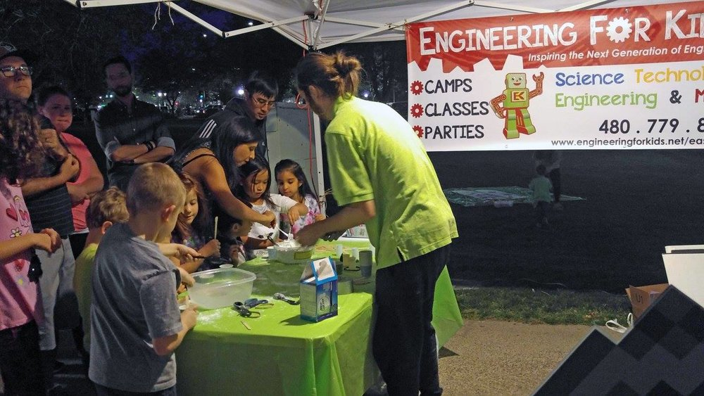 East Valley Engineering for Kids will be doing a green slime activity from 6-7 p.m.