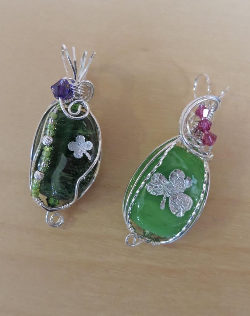 Another artist bringing special items for this Friday's Chandler Art Walk is Chuparosa Designs. Pictured are two jewelry pendants.