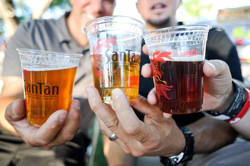 There will be large beer gardens at both tomorrow's Great American BBQ and Beer Festival and next week's Chandler Jazz Festival (the jazz festival will also be serving white and red wine).