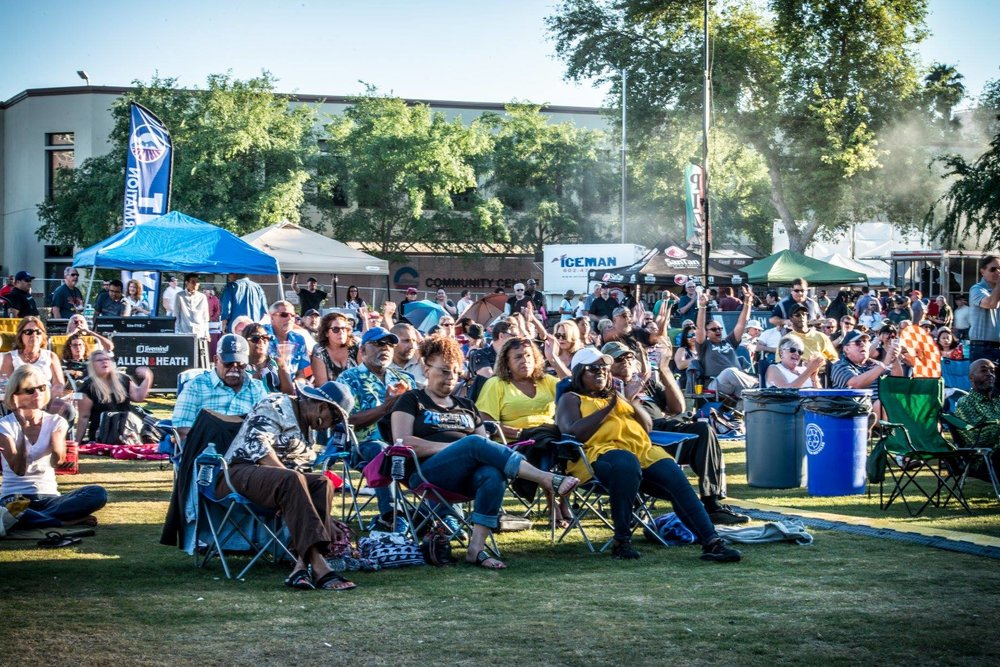 Don't forget a lawn chair or blanket to sit on at the upcoming Chandler Jazz Festival.