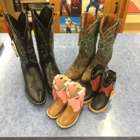 Saba's has boots for the entire family.