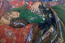 Dressed as an Odalisque, Firooz Zahedi, 1976