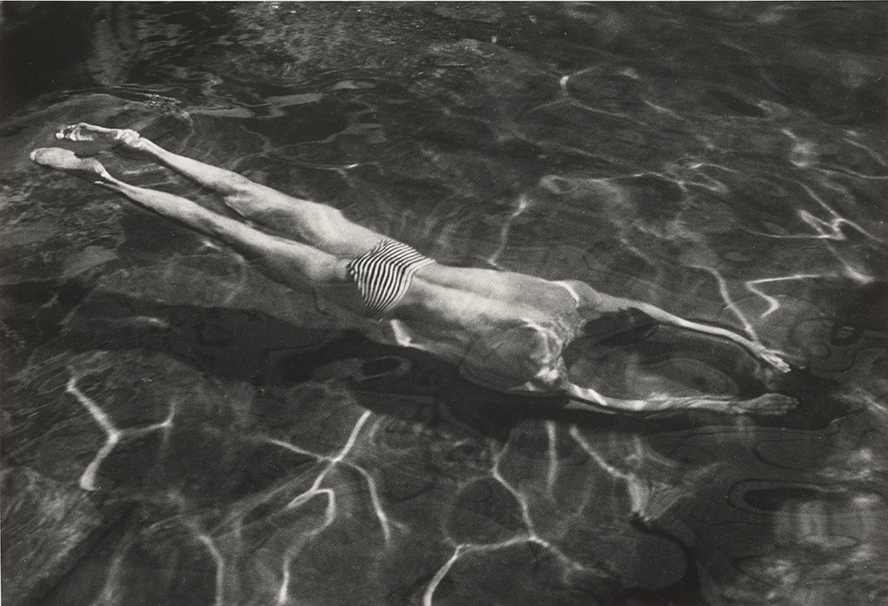 Underwater Swimmer, negative, 1917; print, 1970s, André Kertész, gelatin silver print. The J. Paul Getty Museum. © Estate of André Kertész
