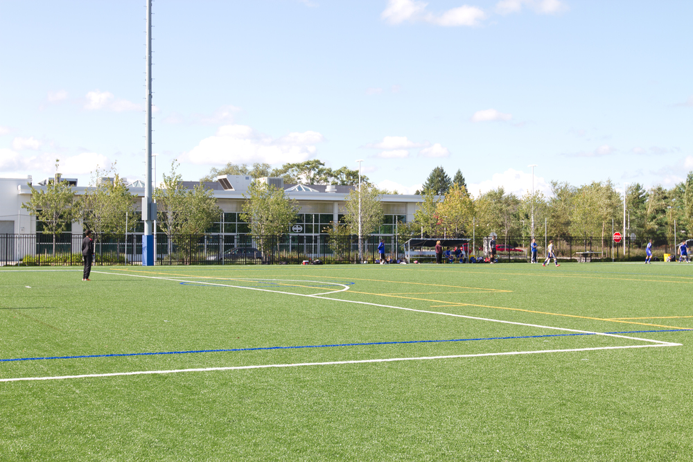 Adjacent to town of Oyster Bay athletic field for transition phase 3 rehab elite athlete.jpg