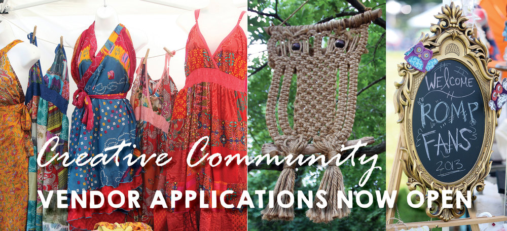 ROMP is a one-stop shop for all those unique and hand-made goodies you can't find anywhere else! Instruments, jewelry, clothing and more. Show us your goods - apply for a vendor spot today!