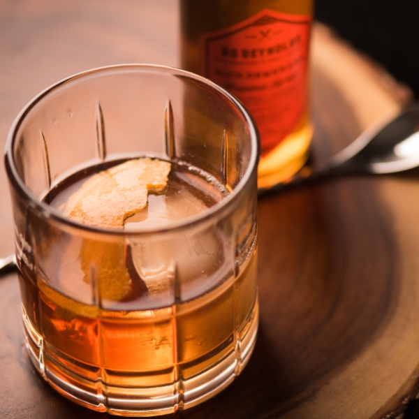 An Old-Fashioned, featuring Rich Demerara syrup.