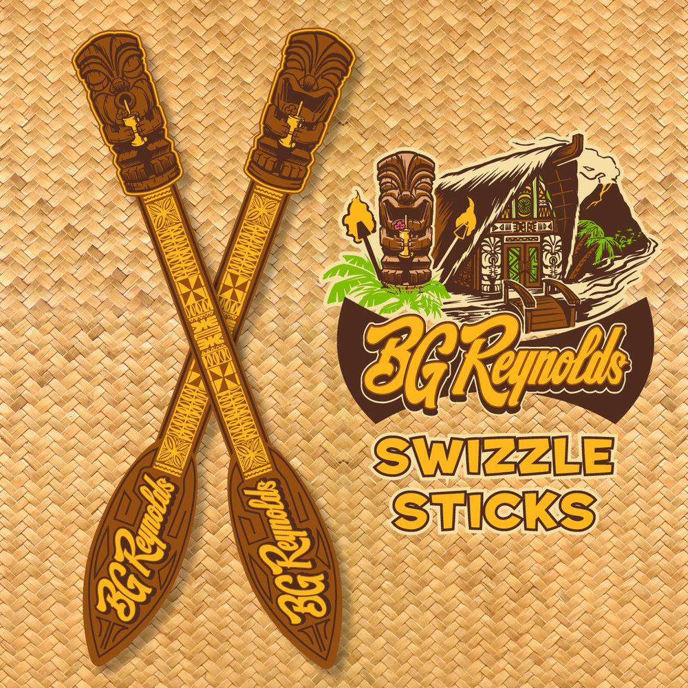 BG Reynolds Swizzle Sticks