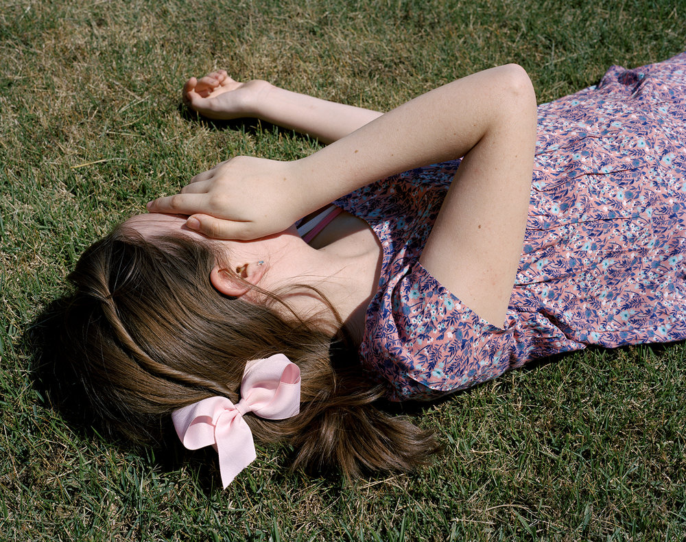 Margaret Strickland,  Maggie in the Grass , 2016, Archival pigment photograph, Edition of 10, 16 x 20 inches