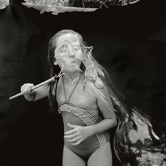 Carolyn DeMeritt, Caitlin with Bubble , 1986 / 2016, Archival pigment photograph, Edition of 25, 15 x 15 inches