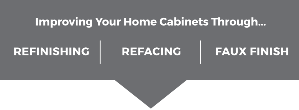 Cabinet refinishing and refacing.