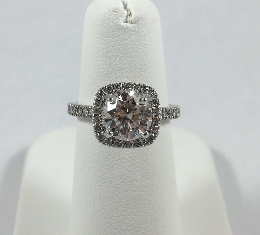 Custom made 1.5 ct engagement ring.