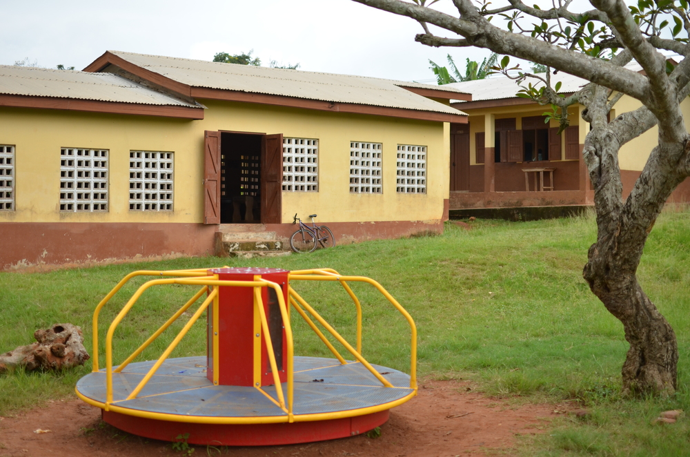 MGR bicycle outside school Crys Cannon.JPG