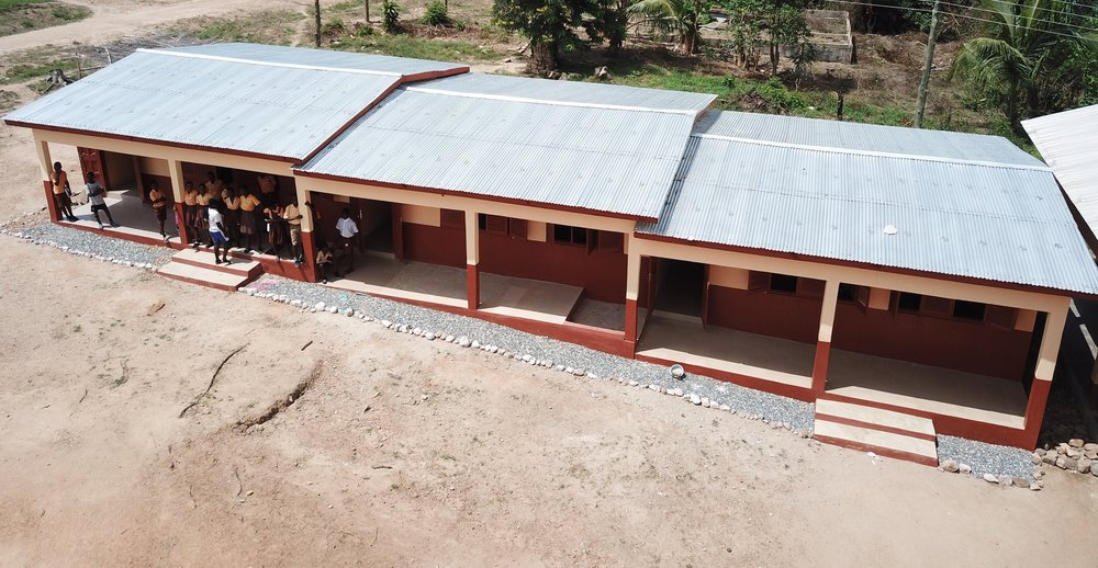 Wurudu Wurudu new classroom block. Completed in 2017.